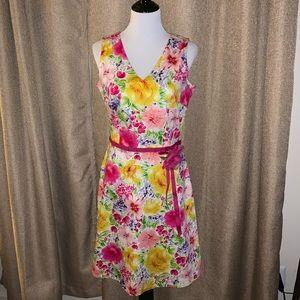 Beautiful floral hydrangea, rose dress